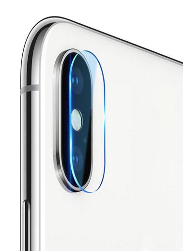 Microsonic iPhone X Kamera Koruyucu Temperli Cam Kırılmaz Film Renksiz